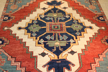 Image of rug repair in process