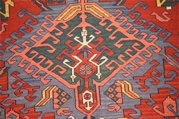 Detail from an antique rug